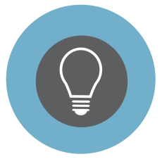 light bulb icon blue