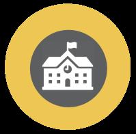 school icon yellow